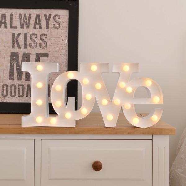 Światło dekoracyjne Carnival Love, białe