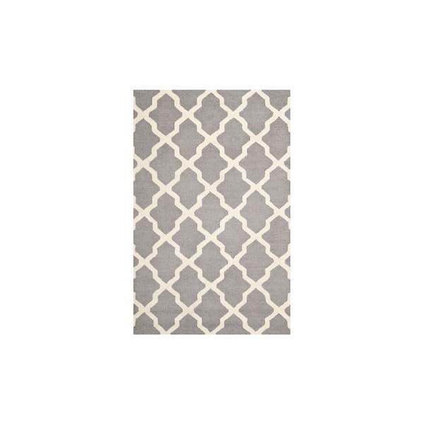 Dywan wełniany Ava Light Grey, 182x274 cm