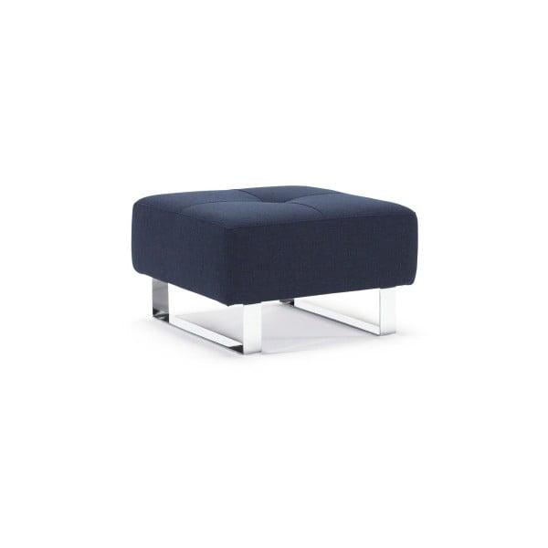 Ciemnoniebieski podnóżek Innovation Cassius Mixed Dance Blue, 65x65 cm