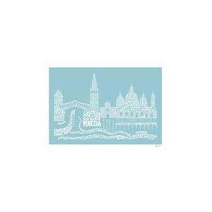 Plakat Venezia Blue&White, 50x70 cm