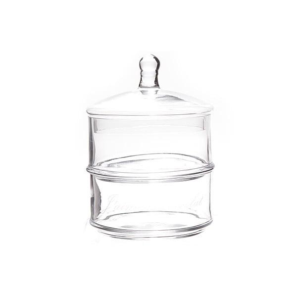 Podwójny szklany pojemnik Stories
