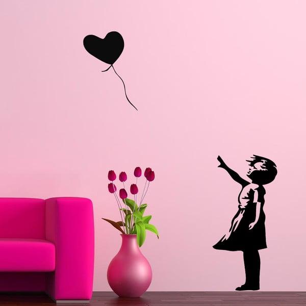 Naklejka winylowa naścienna Miłość w Baloniku