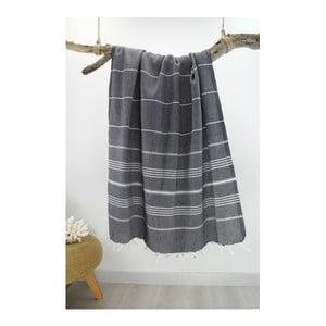 Ręcznik hammam Classic Style Black, 100x180 cm