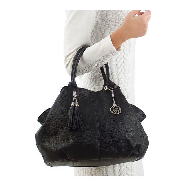 Skórzana torebka Pietro, czarna