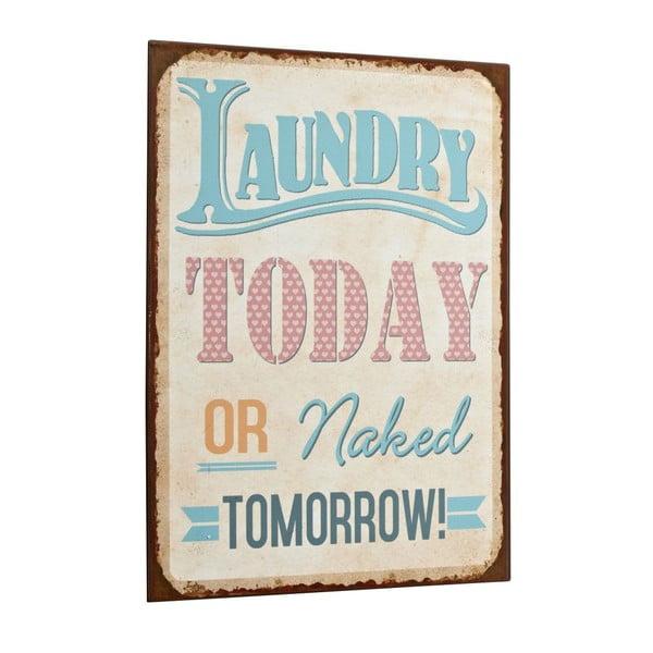 Tablica Laundry today, 35x26 cm