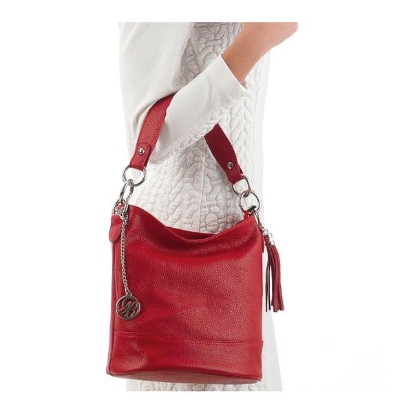 Skórzana torebka Luigi, czerwona