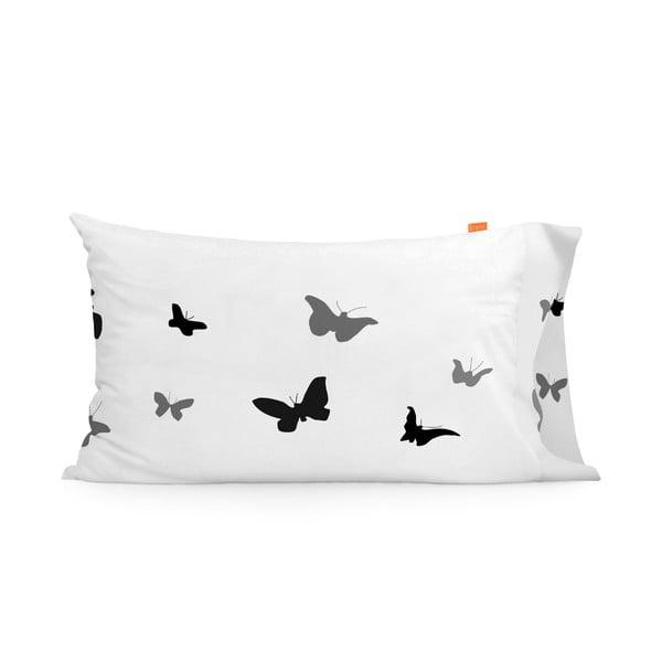 Zestaw 2 bawełnianych poszewek na poduszki Blanc Butterflies, 50x80cm