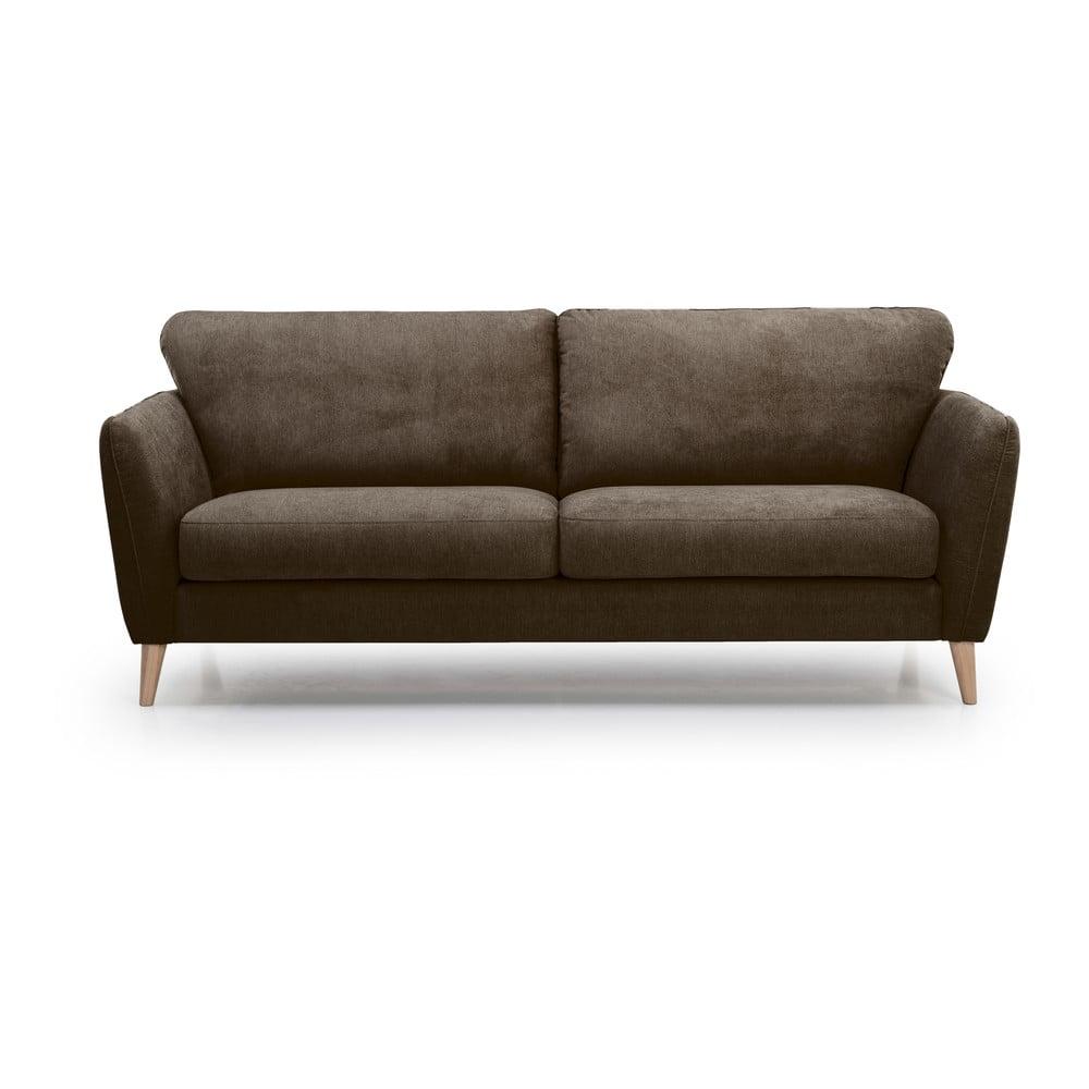 Brązowa sofa Scandic Oslo, 206 cm