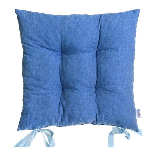 Poduszka na krzesło Carli, granatowa