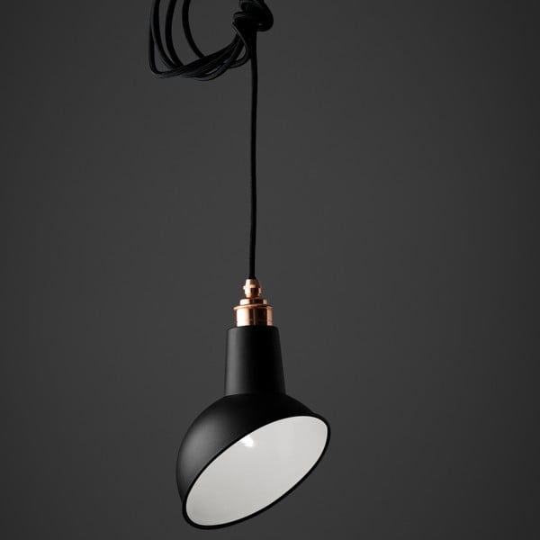 Lampa wisząca Miniature Angled Cloche Black