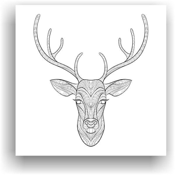 Obraz do kolorowania 55, 50x50 cm