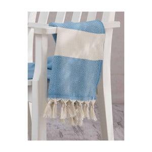 Jasnoniebieski ręcznik Hammam Elmas, 100x180cm