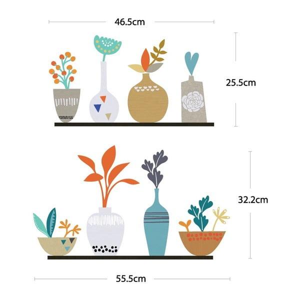 Zestaw naklejek Ambiance Flowers in Pot