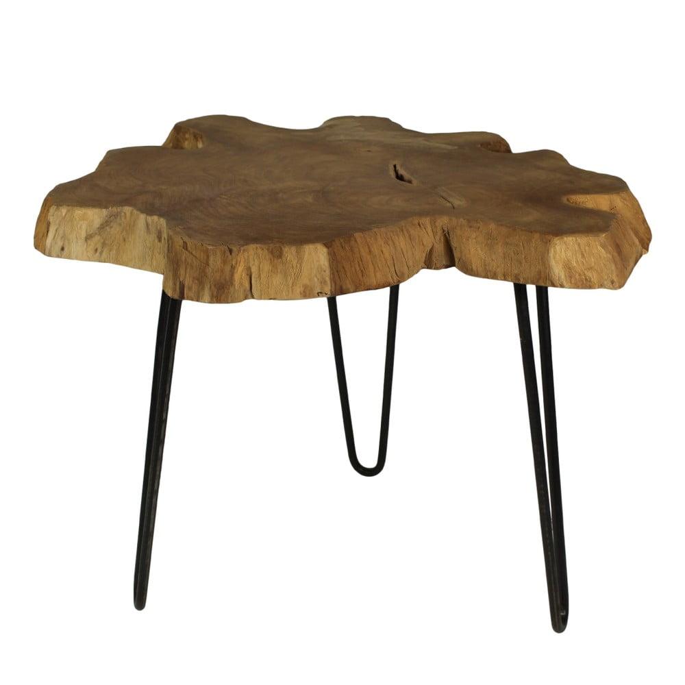 Stolik Z Drewna Tekowego Hsm Collection Bollei 55 Cm Bonami