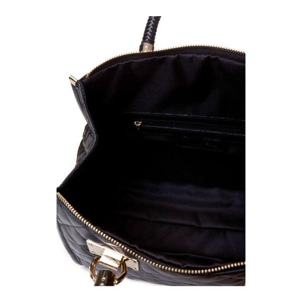 Skórzana torebka Quilted Black