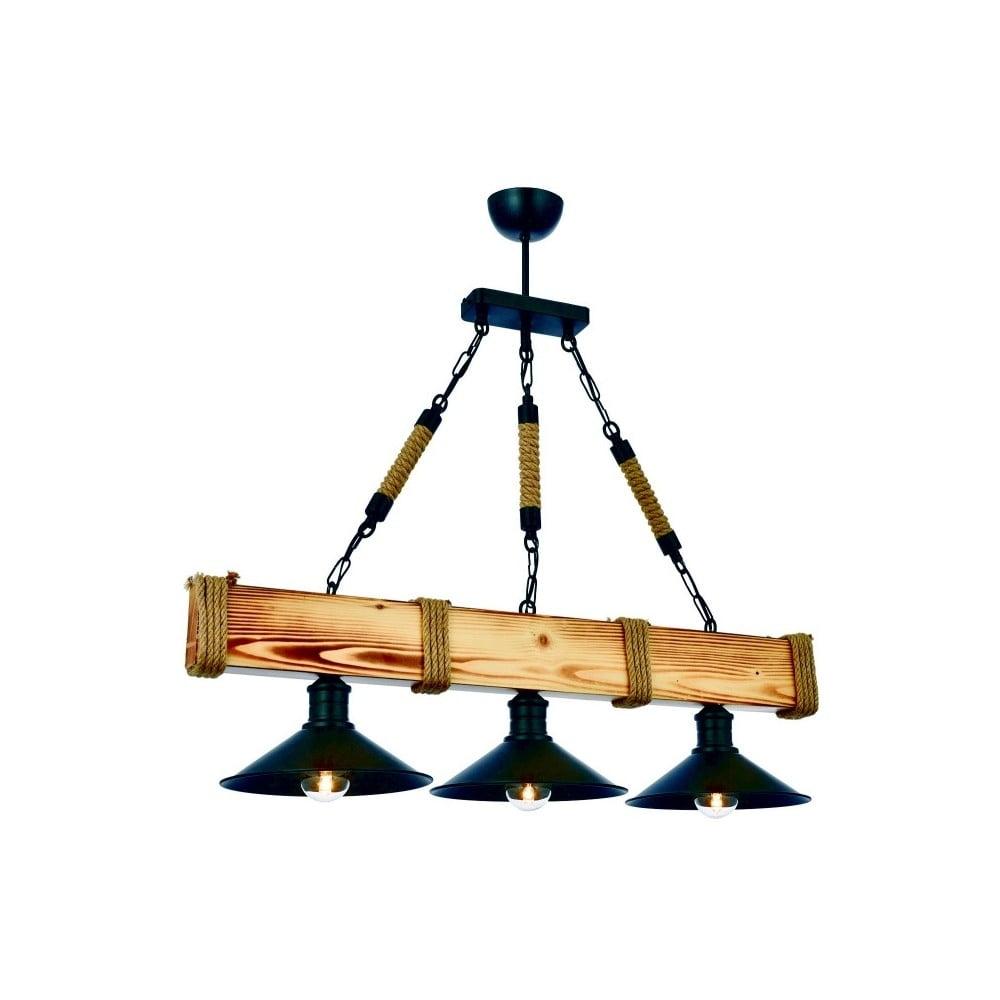 Lampa wisząca z drewna grabu Kütük Yanık