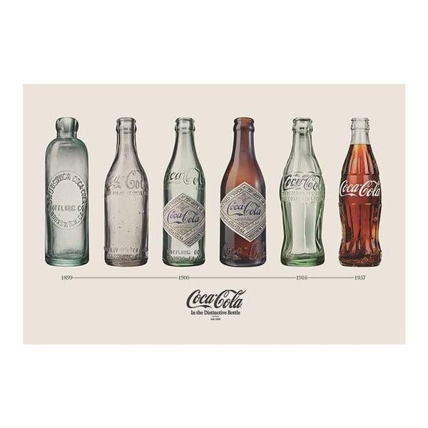 Plakat Coca Cola Bottles, 61x91 cm
