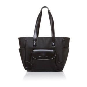 Skórzana torebka przez ramię Marta Ponti Pocket Deux, czarna
