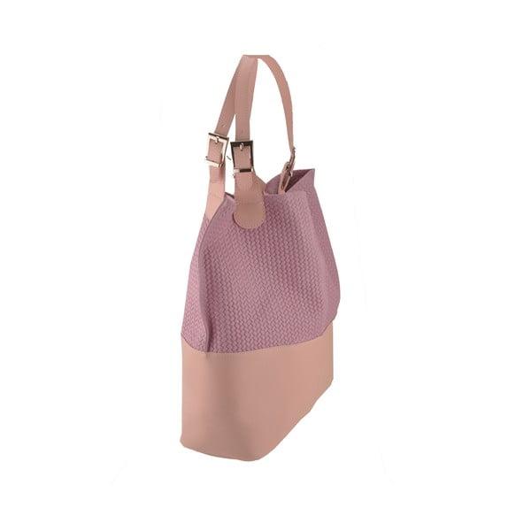 Skórzana torebka Hamal, różowa