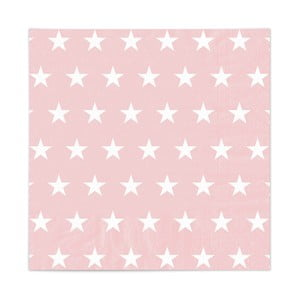Zestaw 20 serwetek Stars Rosa