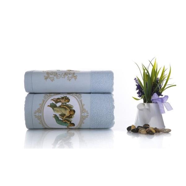 Zestaw 2 ręczników Angel V1, 50x90 cm + 70x140 cm