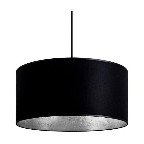 Czarna lampa wisząca z elementami w kolorze srebra Sotto Luce Mika, Ø50 cm