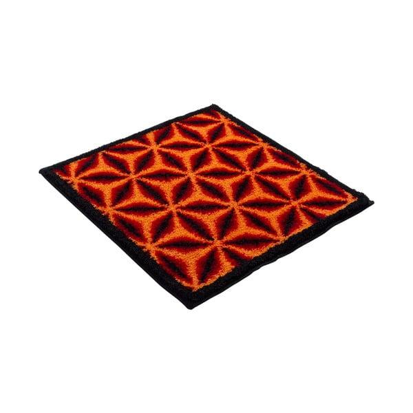 Dywanik łazienkowy Kolor My World XIV 60x60 cm, pomarańczowy