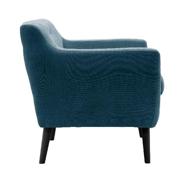 Sofa dwuosobowa VIVONITA Kelly Marine Blue, czarne nogi