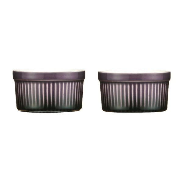Zestaw 2 naczyń do zapiekania Purple Stoneware