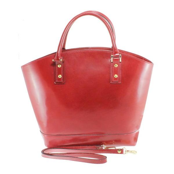 Czerwona torba skórzana Chicca Borse Stefania