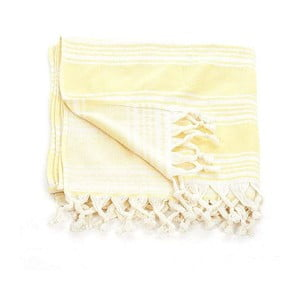 Ręcznik hammam Pestemal Yellow Ivory