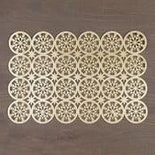 Mata stołowa w barwie złota InArt XMas Snowflake