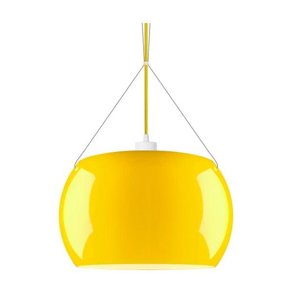Żółta błyszcząca lampa wisząca Sotto Luce MOMO