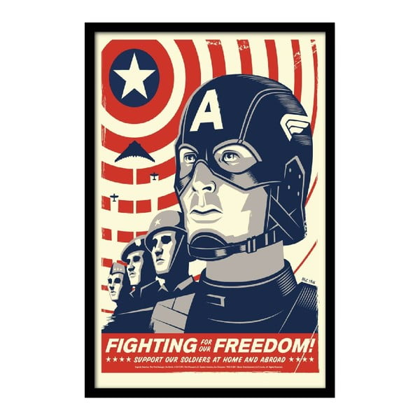Plakat Fighting Freedom, 35x30 cm