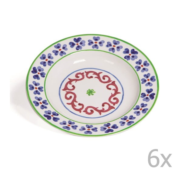 Zestaw 6 głębokich talerzy Toscana Anghiari, 22.5 cm