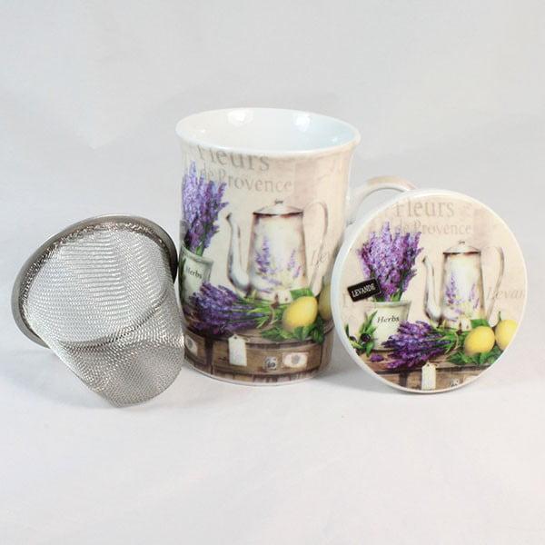 Kubek z filtrem i przykrywką Fleurs de Provence