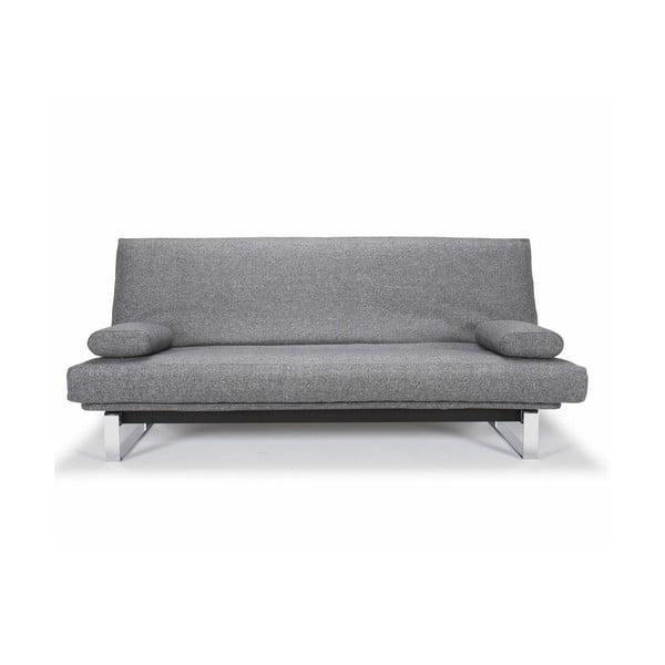 Szara nakrapiana sofa rozkładana Innovation Minimum
