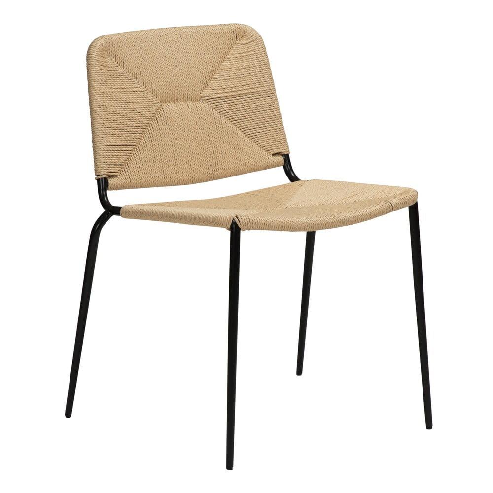 Beżowe krzesło DAN-FORM Denmark Stiletto