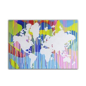 Obraz Around the World III, 50x70 cm