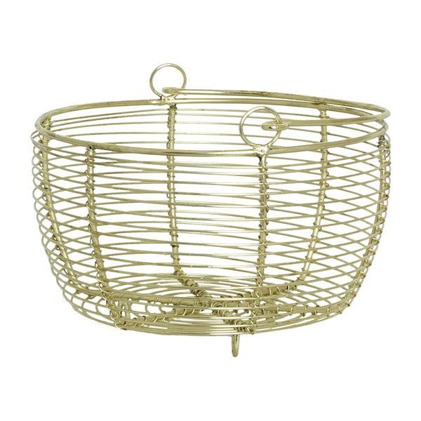 Koszyk metalowy Shiny Brass