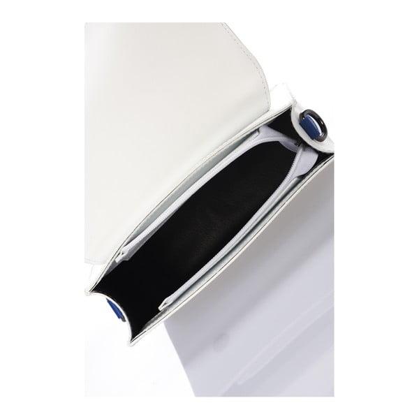 Torebka skórzana Cristel, biało-niebieska