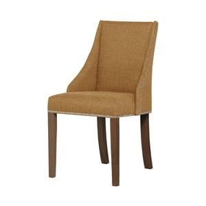 Żółte krzesło z ciemnobrązowymi nogami Ted Lapidus Maison Patchouli