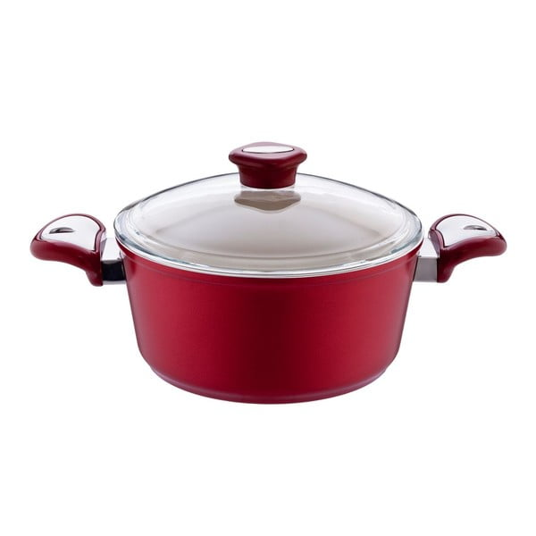 Garnek Lux Steel Red, 4,5 l