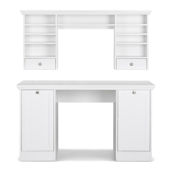 Biała nadstawka na biurko Intertrade Landwood