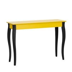 Żółta konsola z czarnymi nogami Ragaba Lilo, szerokść 105 cm