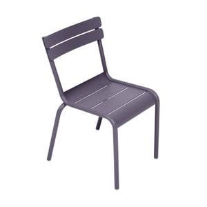 Liliowe krzesło dziecięce Fermob Luxembourg