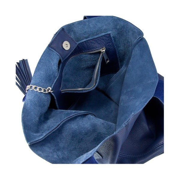 Niebieska torebka skórzana Giorgio Costa Lauretta