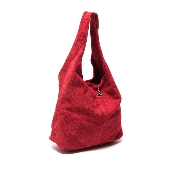 Skórzana torebka Roberta M 885 Rosso
