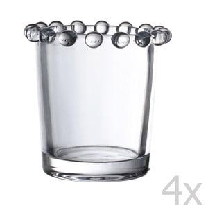 Zestaw 4 świeczników Pearls