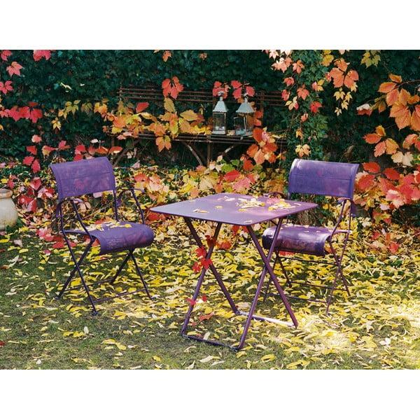 Zestaw 2 kremowych krzeseł składanych z podłokietnikami Fermob Dune